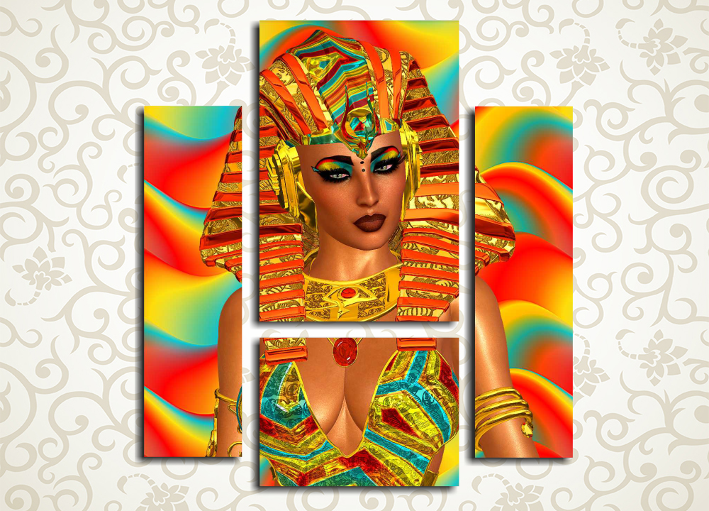 Модульная картина В египетском стиле