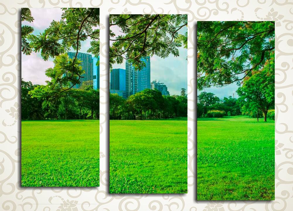 Модульная картина Парк большого города