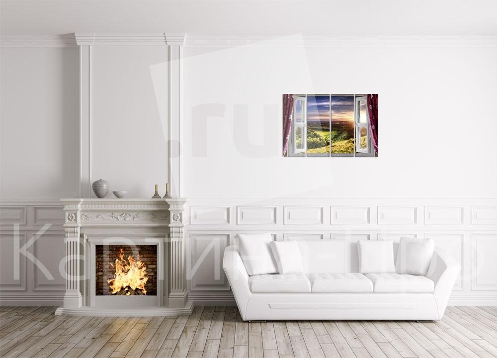 Модульная картина Вид из окна от Kartina-Pro