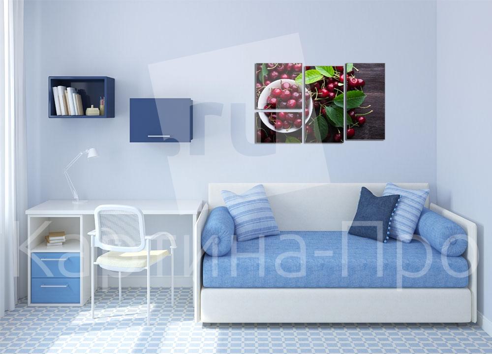 Модульная картина Спелая вишня от Kartina-Pro