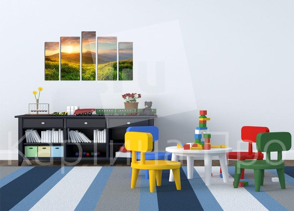 Модульная картина Восход от Kartina-Pro