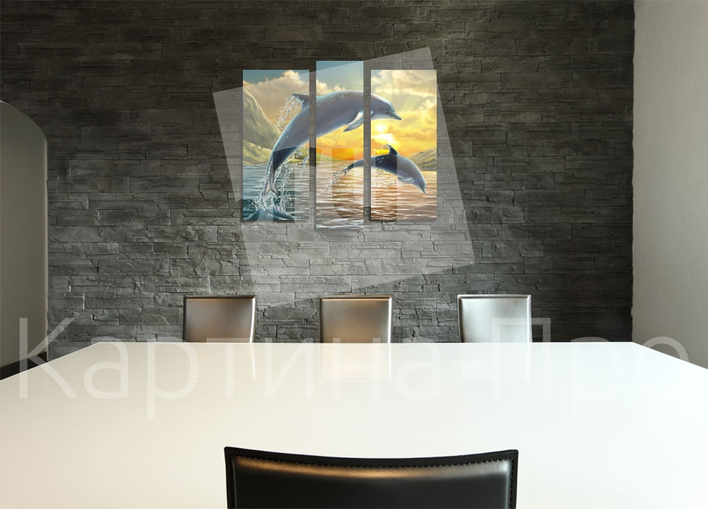 Модульная картина Дельфин на закате от Kartina-Pro