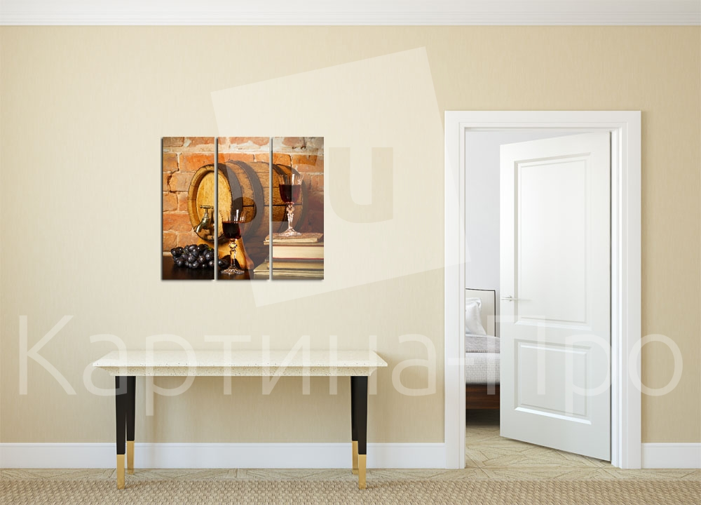 Модульная картина Бочонок вина от Kartina-Pro
