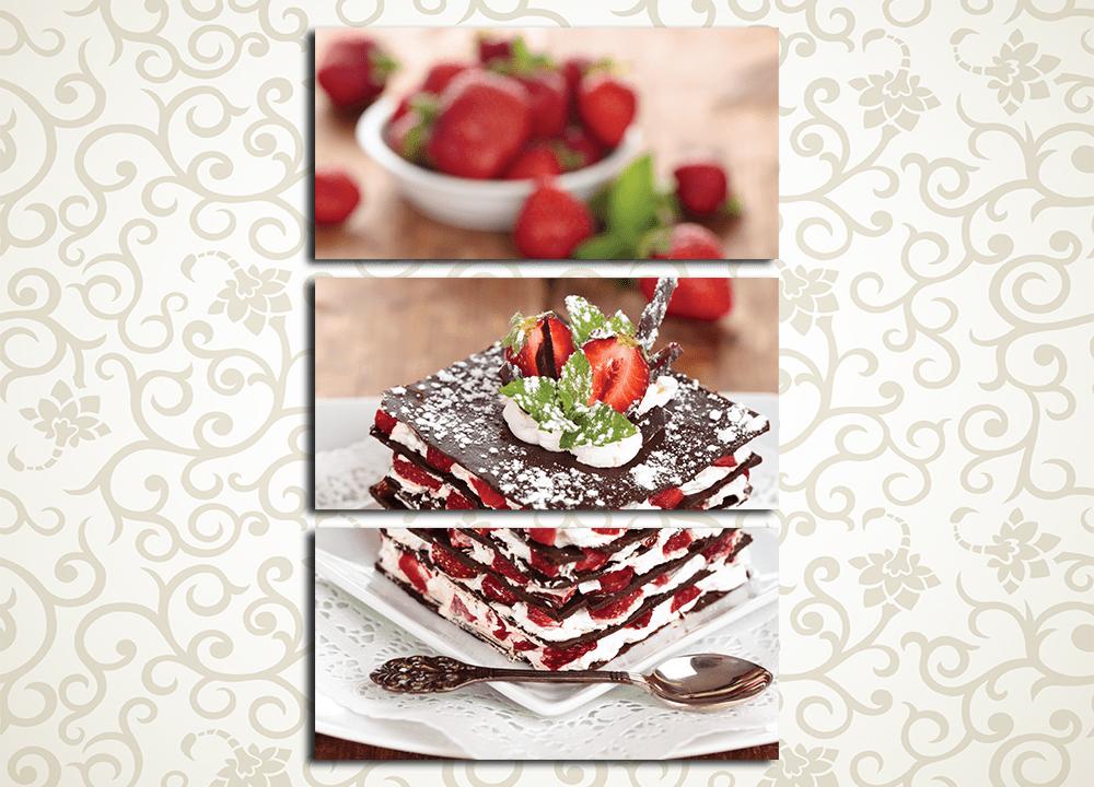 Модульная картина Воздушный десерт