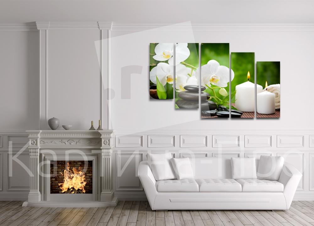 Модульная картина Сказочные орхидеи от Kartina-Pro