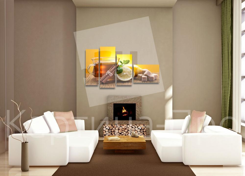 Модульная картина Аппетитная чашка чая от Kartina-Pro