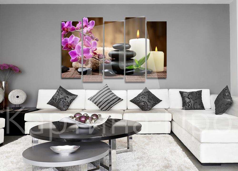 Модульная картина Орхидея и свечи от Kartina-Pro