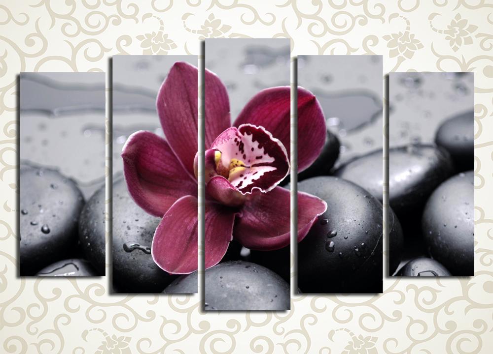 Модульная картина Орхидея после дождя