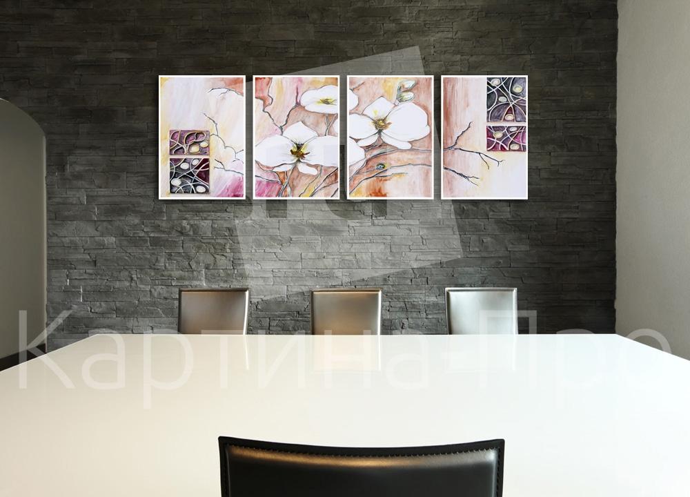 Модульная картина Абстрактные орхидеи от Kartina-Pro