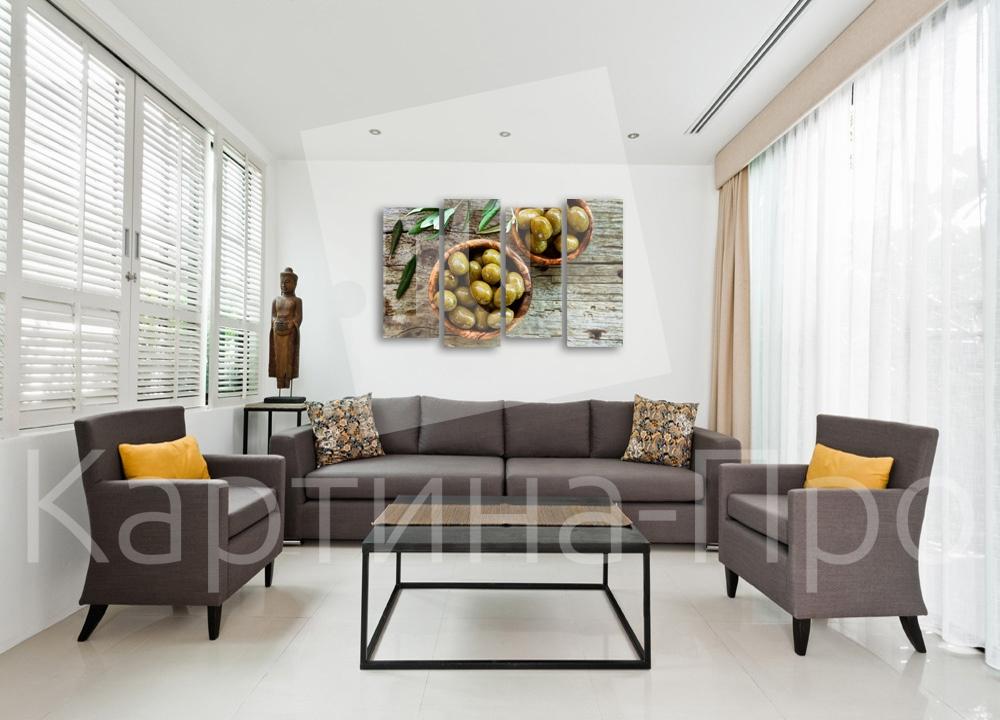 Модульная картина Аппетитные оливки от Kartina-Pro