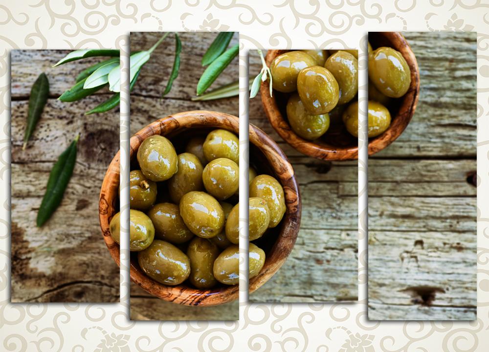 Модульная картина Аппетитные оливки