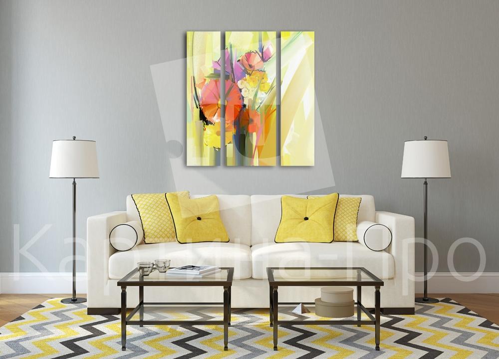 Модульная картина Абстрактный букет цветов от Kartina-Pro