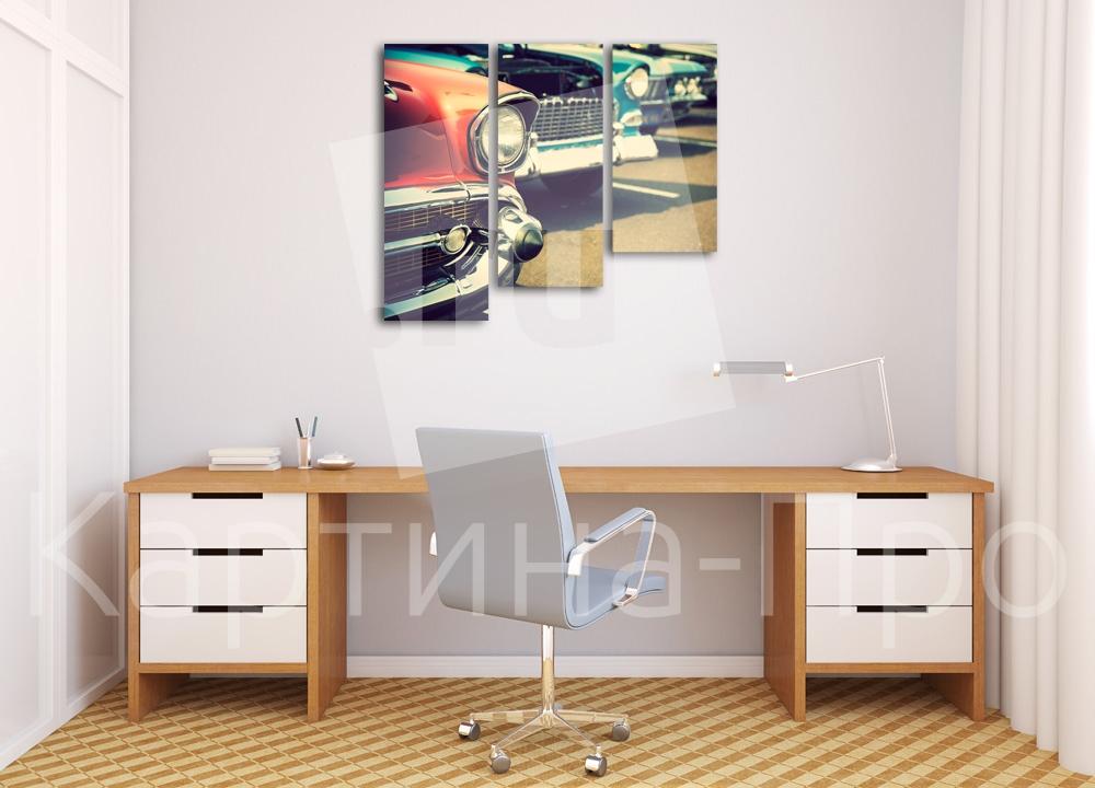 Модульная картина Собрание ретро автомобилей от Kartina-Pro