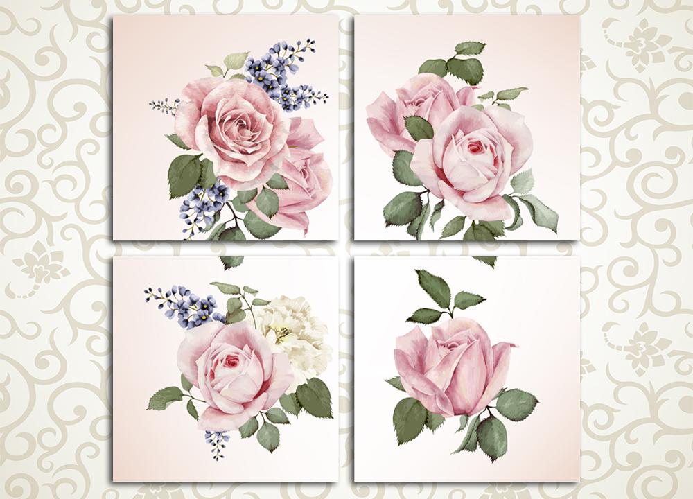 Модульная картина Нежнейшие розыЦветы и фрукты<br>Утонченный вкус хозяйки дома подчеркнет модульная картина «Нежнейшие розы». Это полотно изображает бледно-розовые цветки на светлом фоне, выполненные в приятных пастельных тонах. Картина станет великолепным украшением спальни, гостиной, а также кухни. Изображение состоит из 4 квадратных модулей, собранных под строгим контролем качества на сосновых каркасах.<br>