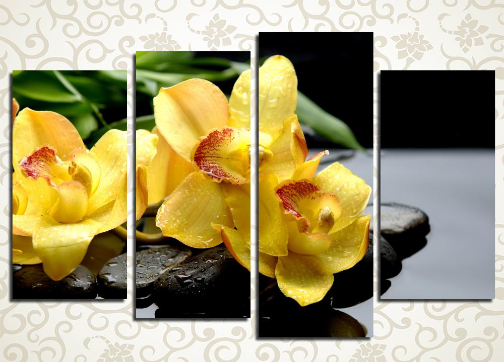 Модульная картина Желтые орхидеиЦветы и фрукты<br><br>