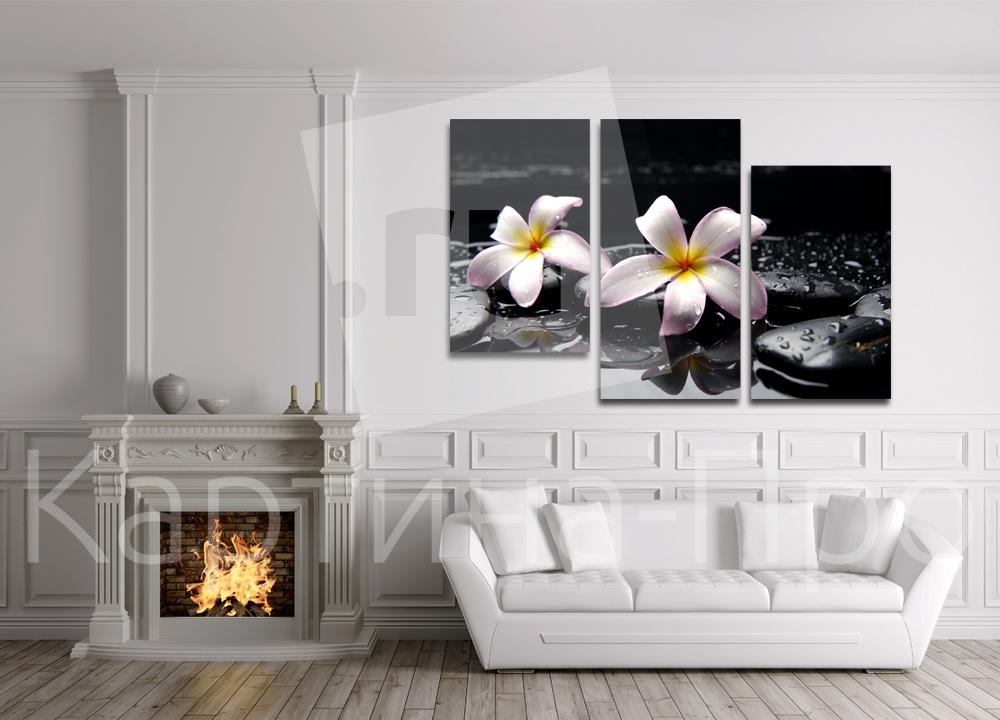 Модульная картина Триптих лилии от Kartina-Pro