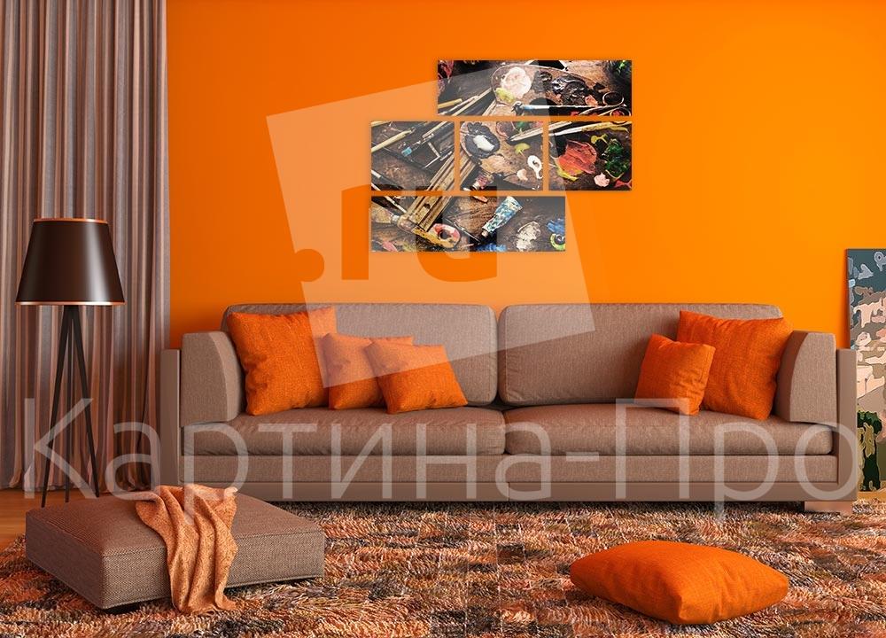 Модульная картина Художественные принадлежности от Kartina-Pro