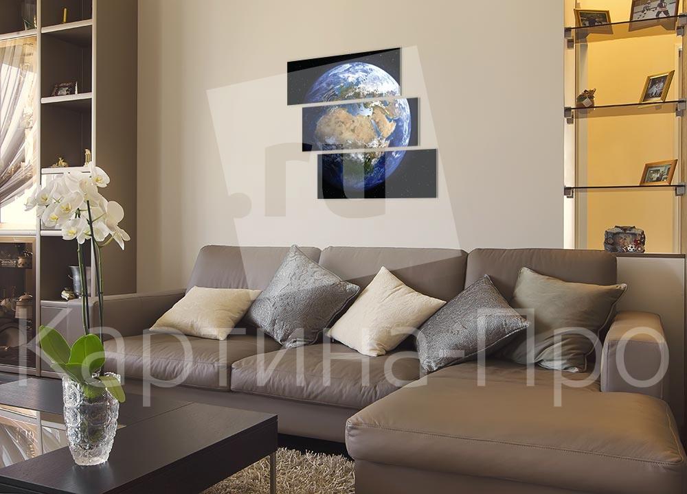 Модульная картина Планета Земля от Kartina-Pro
