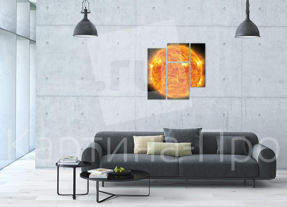 Модульная картина Яркое солнце от Kartina-Pro