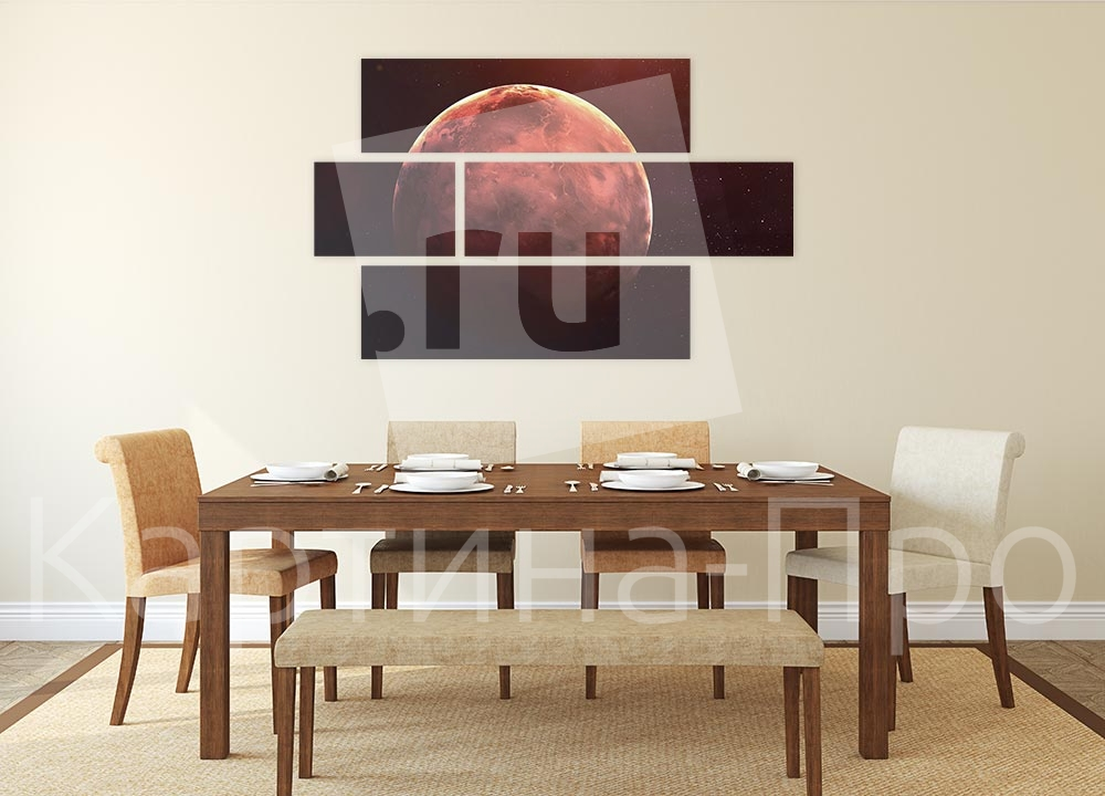 Модульная картина Меркурий на фоне звездного неба от Kartina-Pro