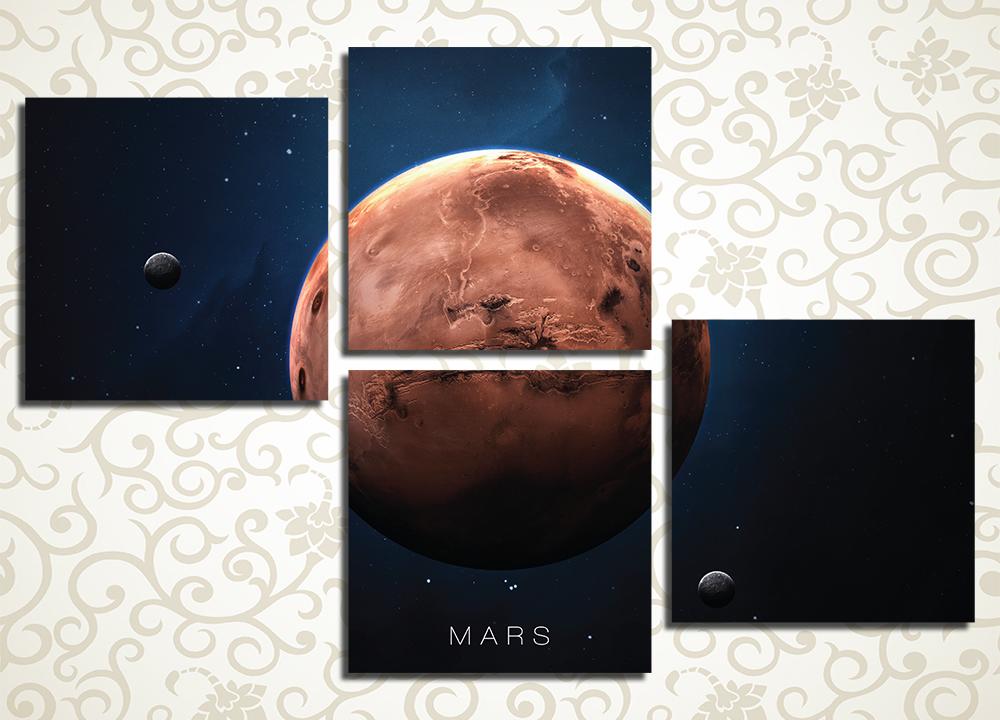 Модульная картина Загадочный Марс
