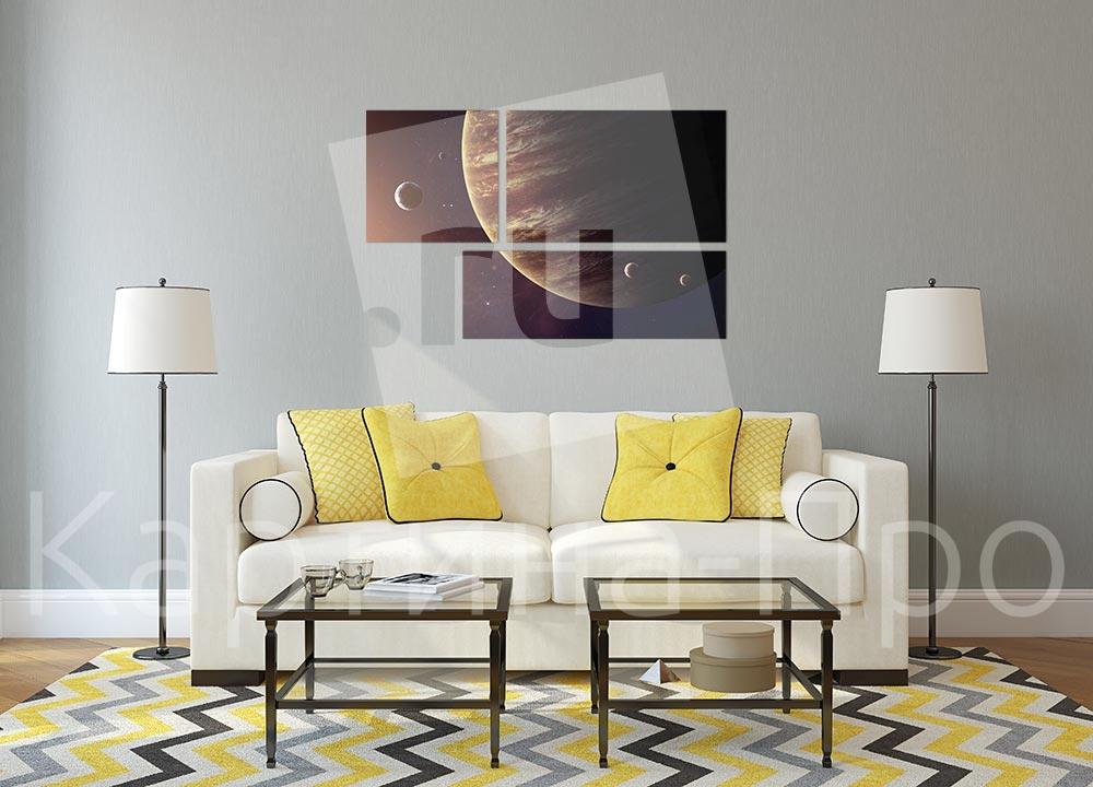 Модульная картина Освещенный солнцем Юпитер от Kartina-Pro