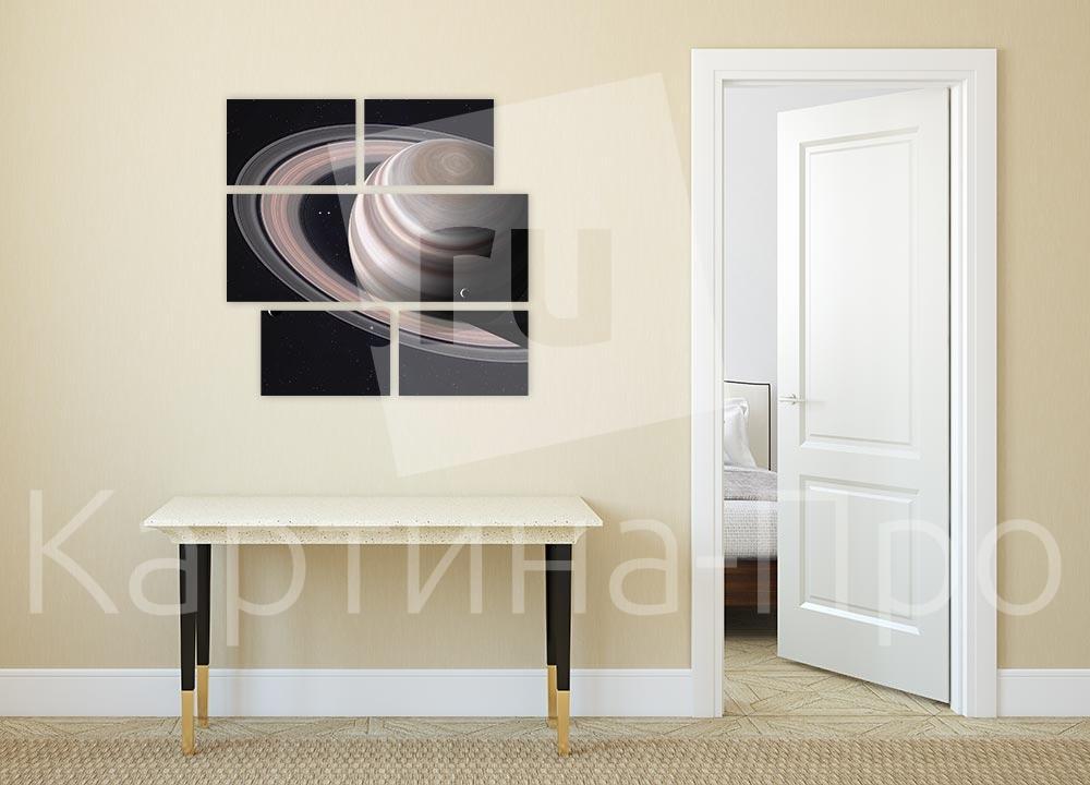 Модульная картина Великолепие колец Сатурна от Kartina-Pro