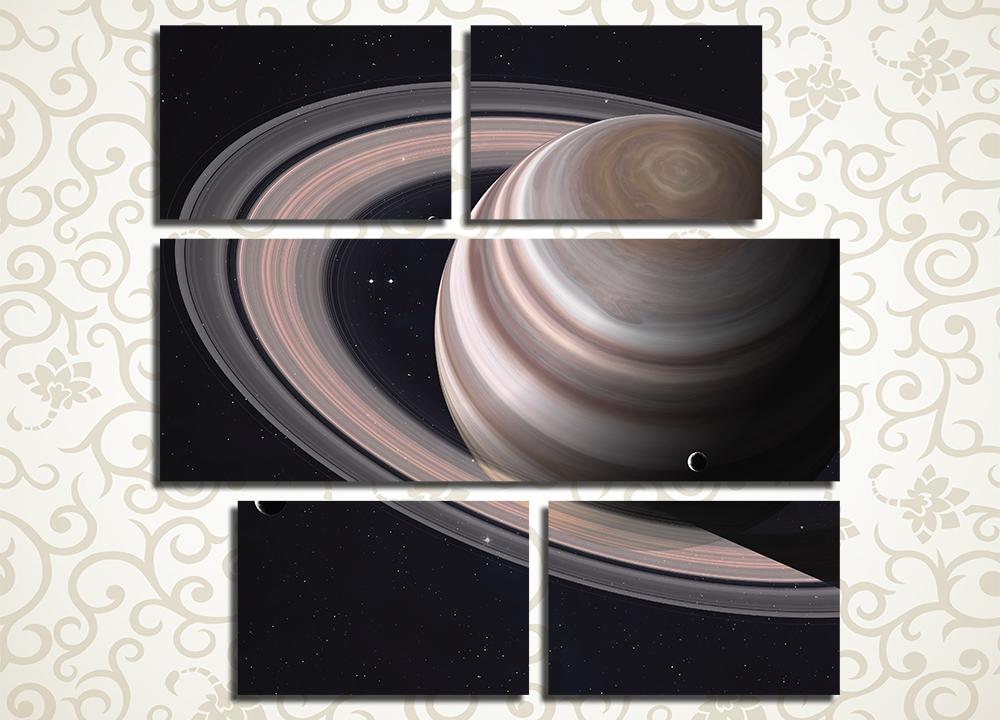 Модульная картина Великолепие колец Сатурна