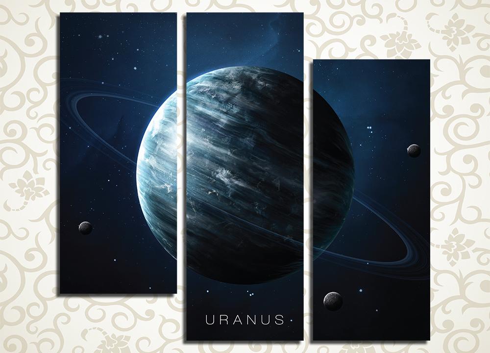 Модульная картина Уран в холодном лунном свете