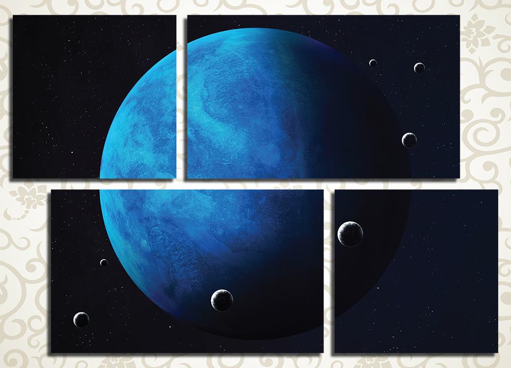 Модульная картина Планета Нептун