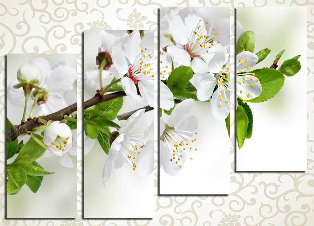 Модульная картина Цветущая яблоня
