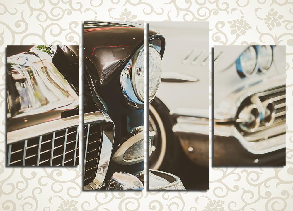 Модульная картина Фары ретро-авто