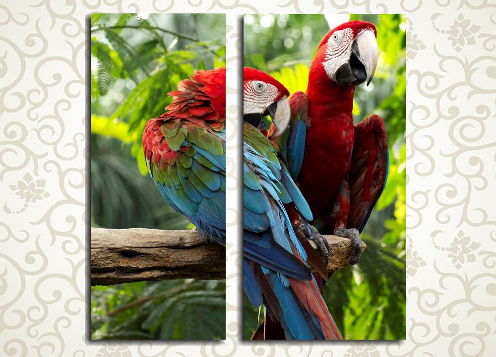 Модульная картина Грациозная пара птиц