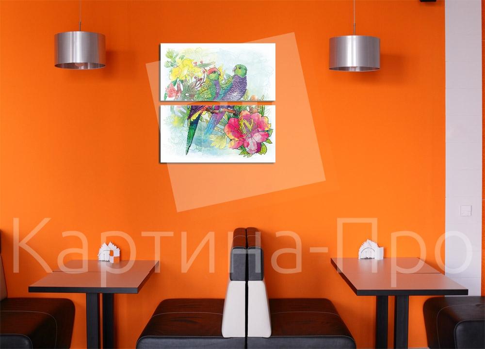 Модульная картина Влюбленная парочка от Kartina-Pro