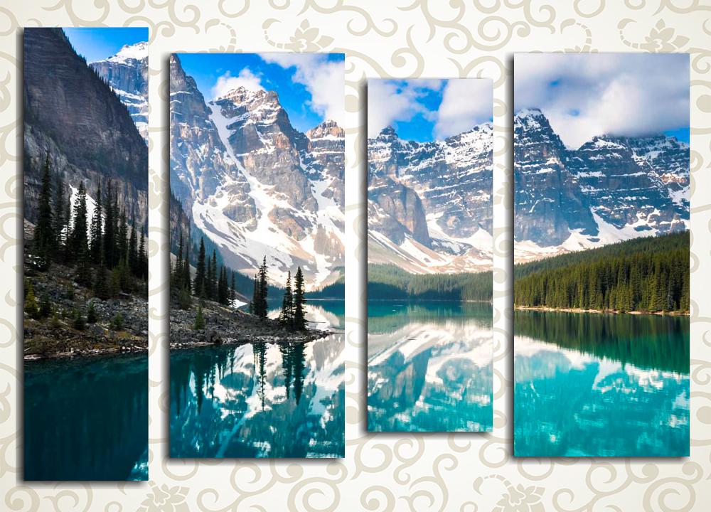 Модульная картина Великолепие заснеженных гор