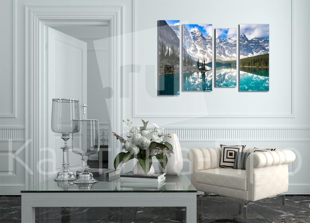 Модульная картина Великолепие заснеженных гор от Kartina-Pro