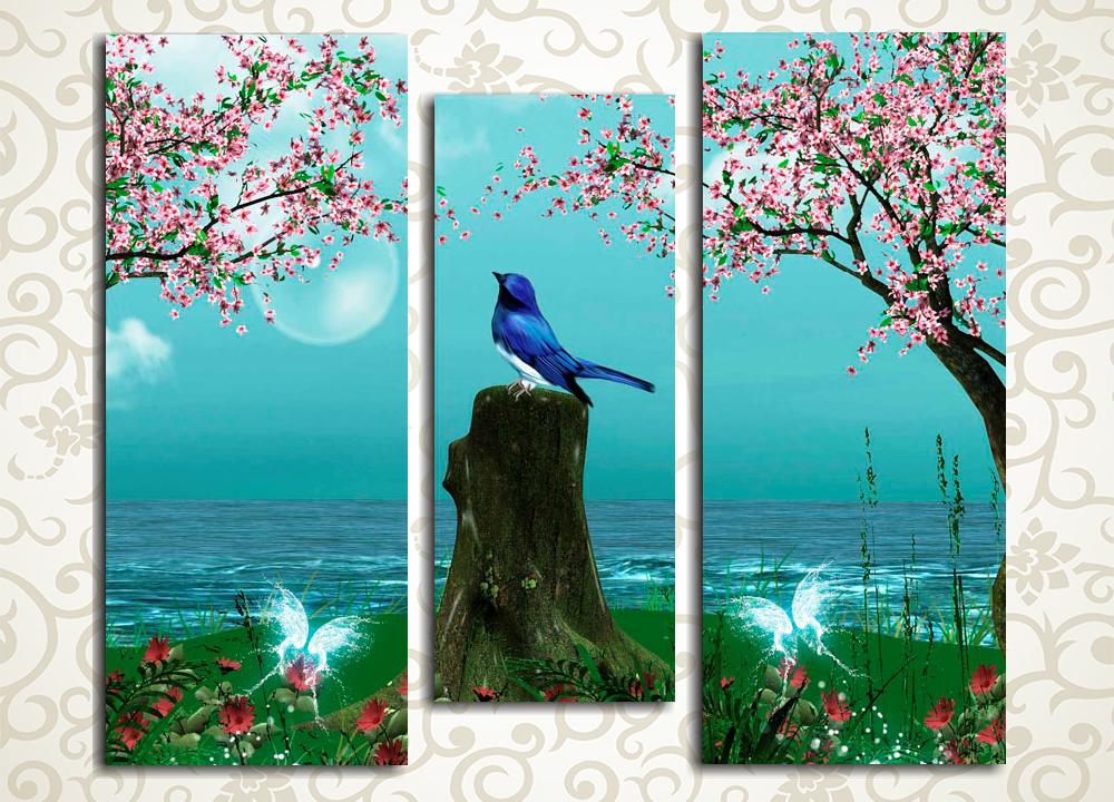 Модульная картина Райский сад