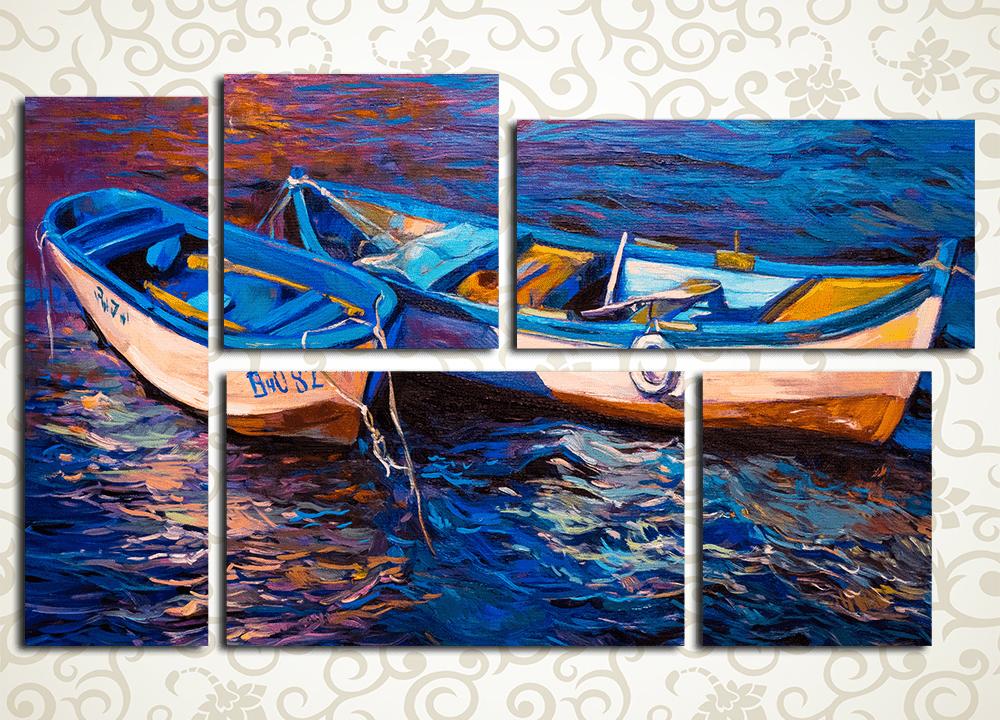 Модульная картина Две лодки