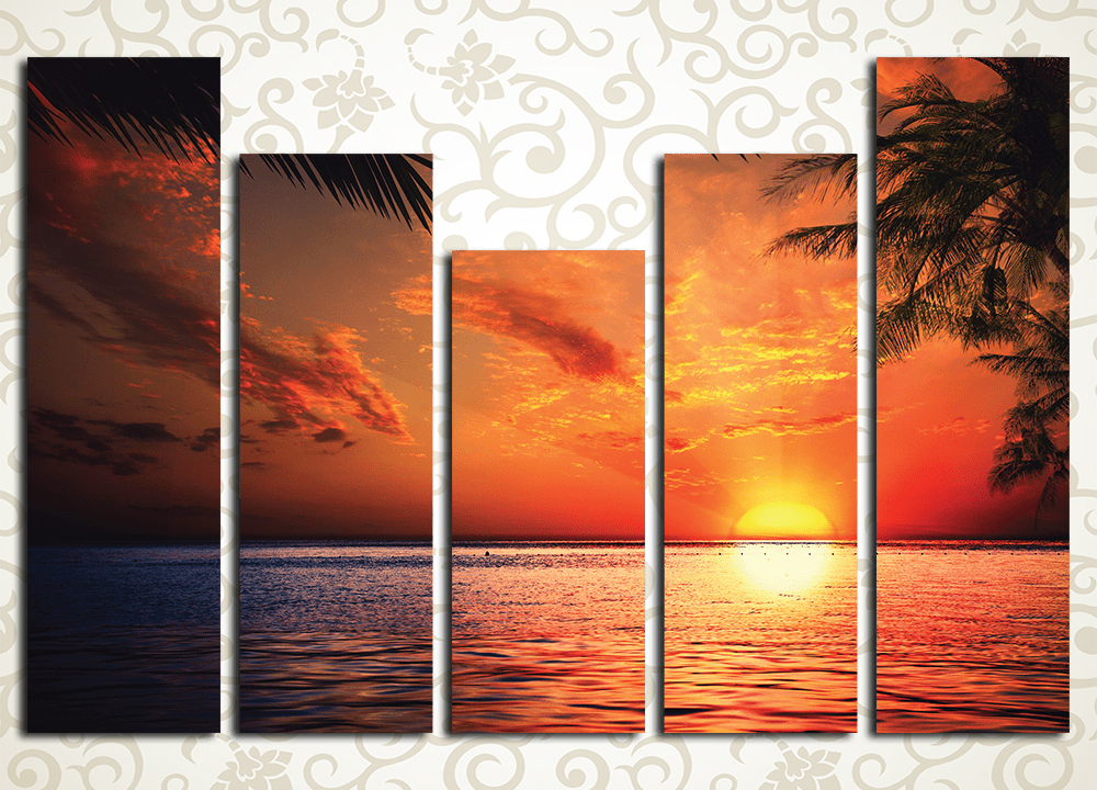 Модульная картина Буйство красок на закате