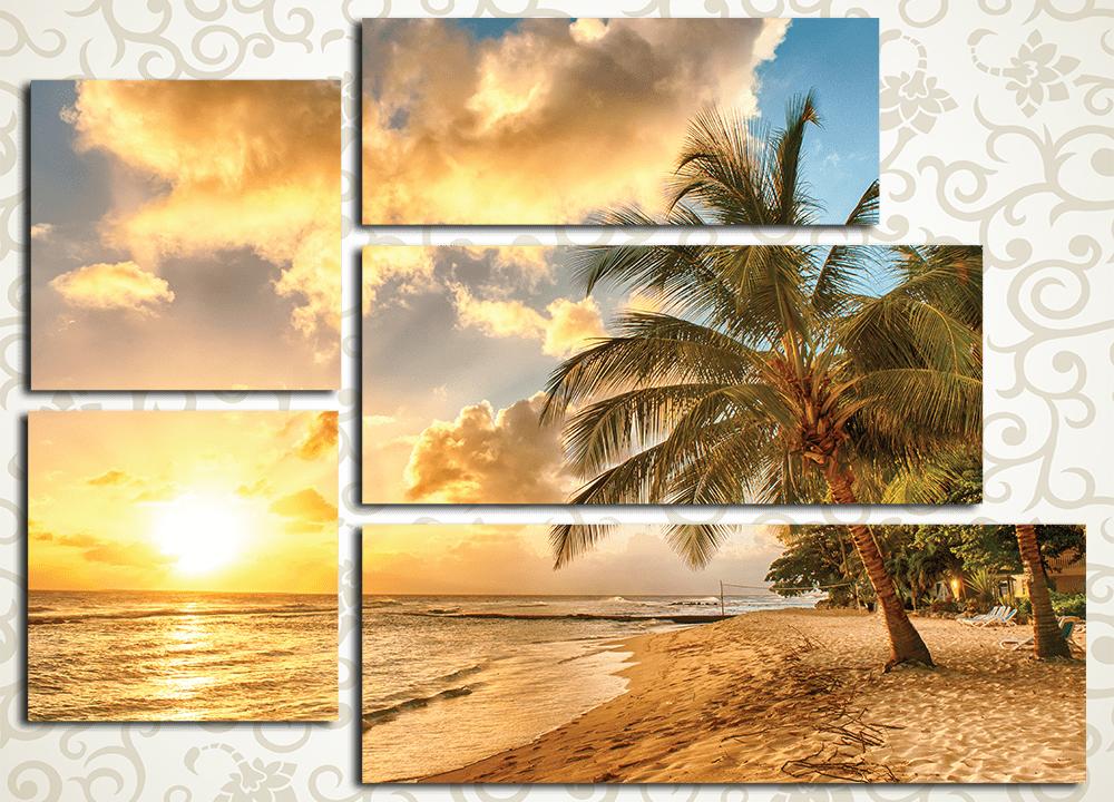 Модульная картина Одинокая пальма