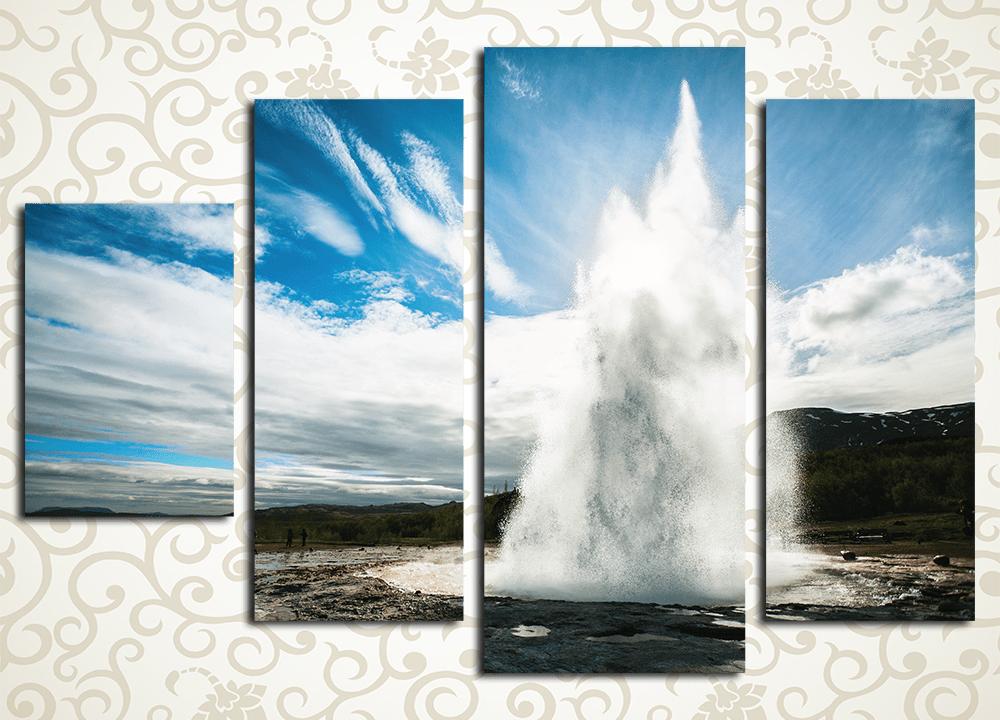 Модульная картина Облачный взрыв