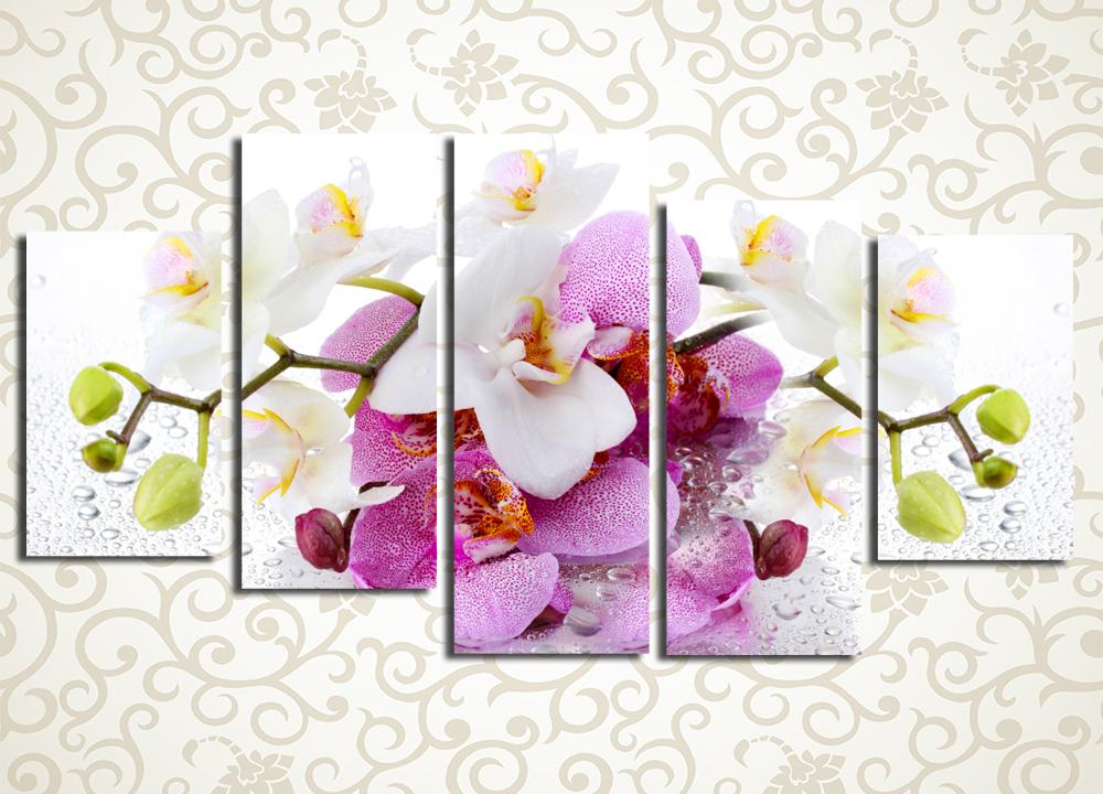 Модульная картина Нежный букет орхидей
