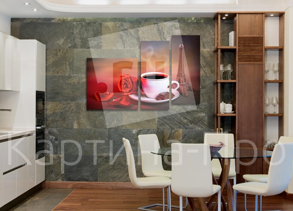 Модульная картина Романтическое утро в Париже от Kartina-Pro