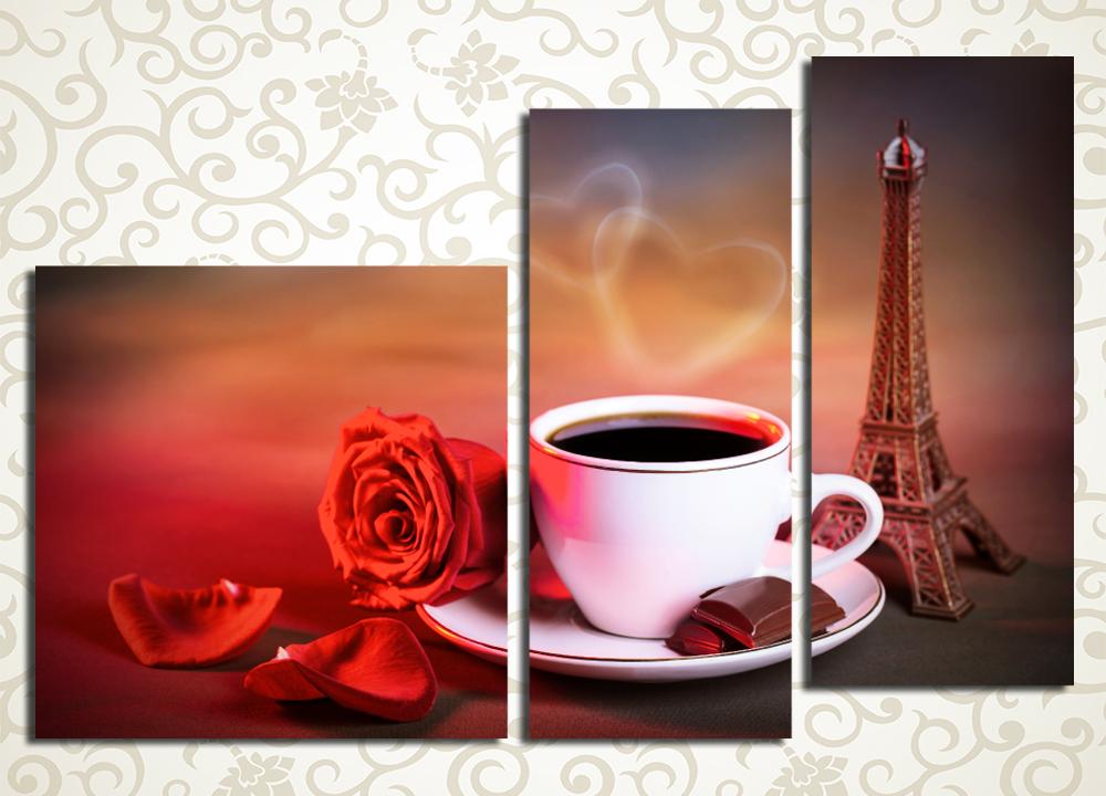 Модульная картина Романтическое утро в Париже