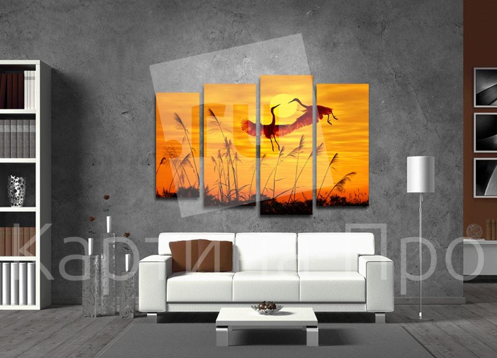 Модульная картина Танцы на закате от Kartina-Pro