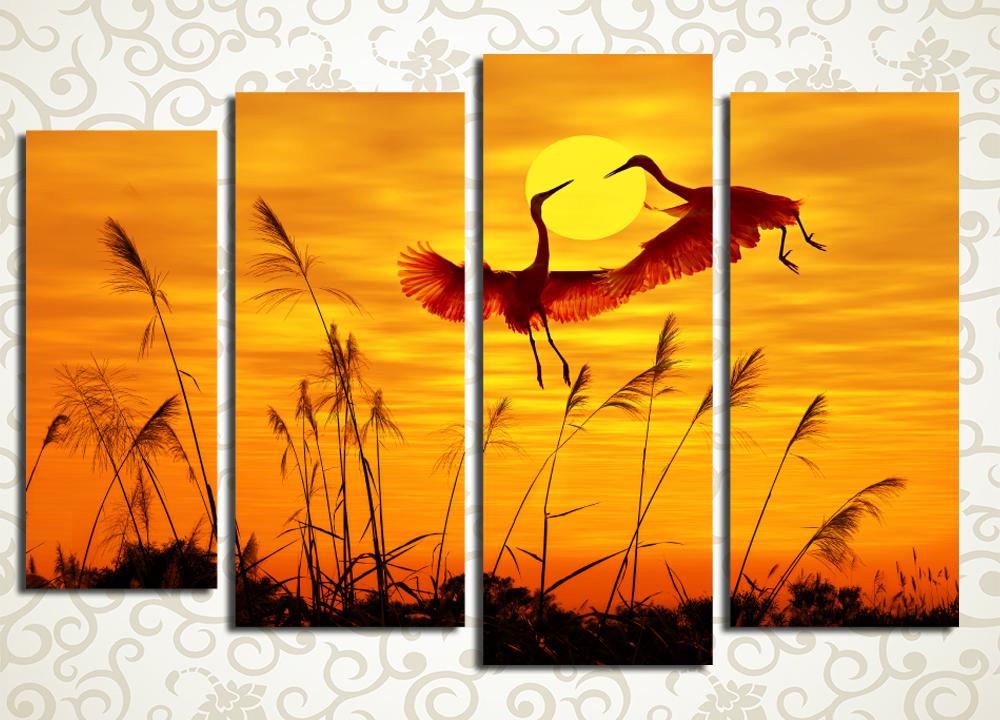 Модульная картина Танцы на закате