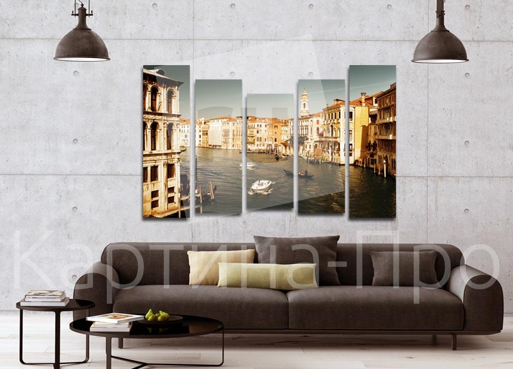 Модульная картина Венецианские дороги (Италия) от Kartina-Pro