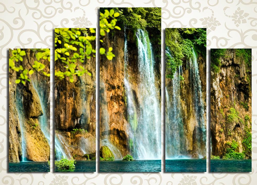 Модульная картина Величие водопада