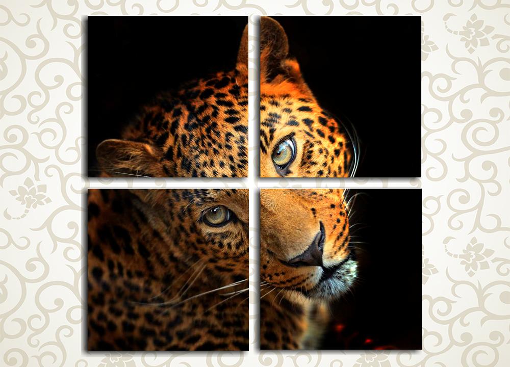 Модульная картина Укрощение хищника