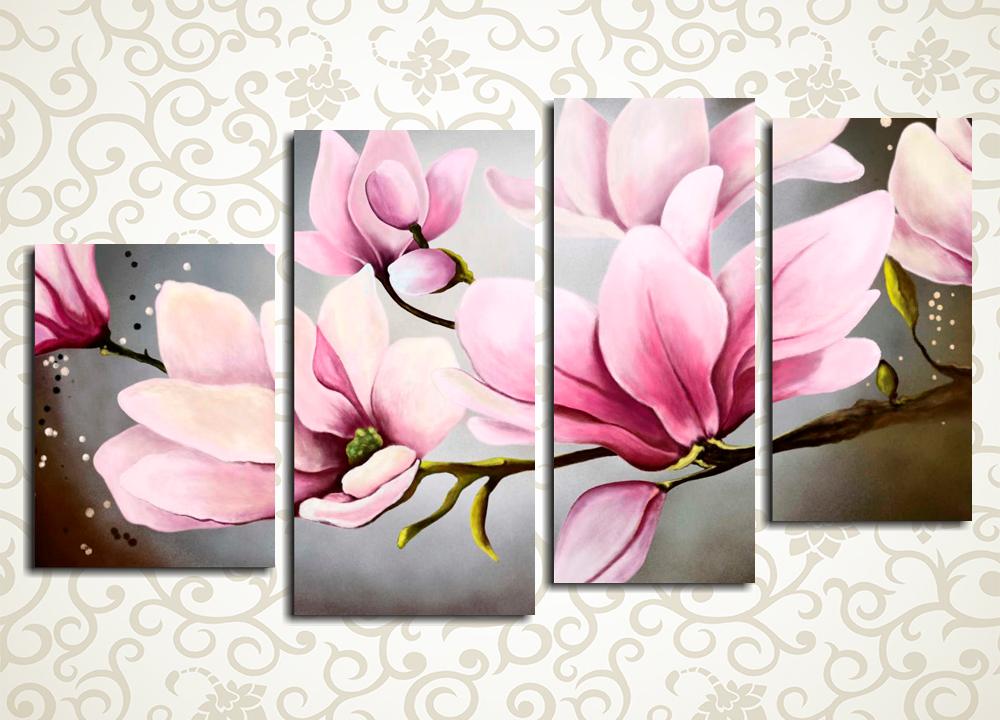 Модульная картина Весна в розовых тонах